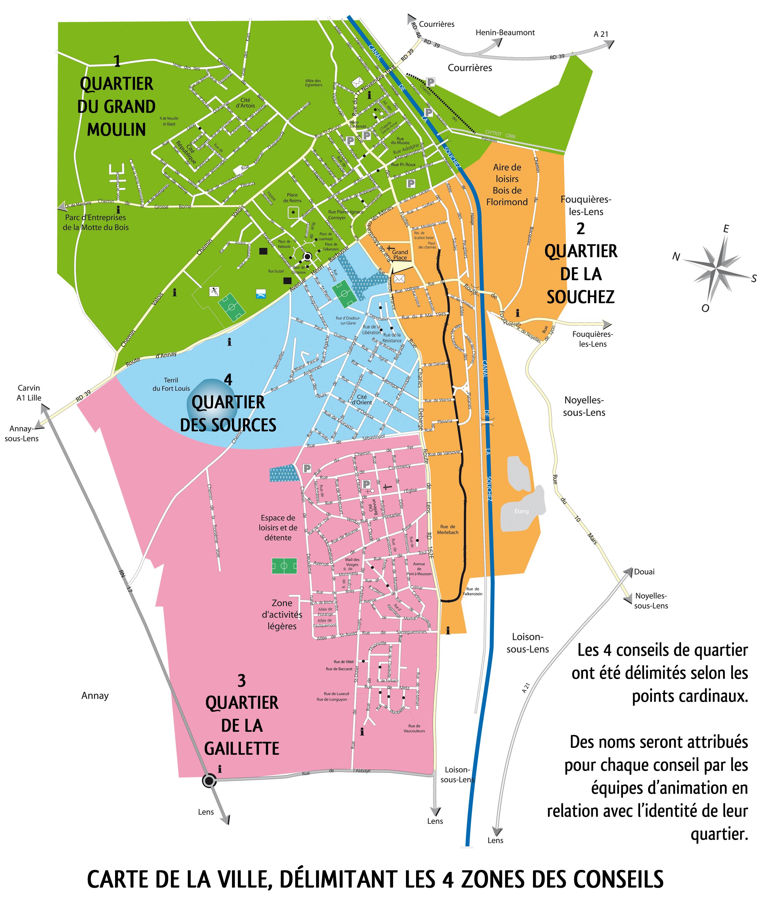 Plan De La Ville De Souchez