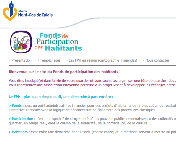 Site officiel du FPH