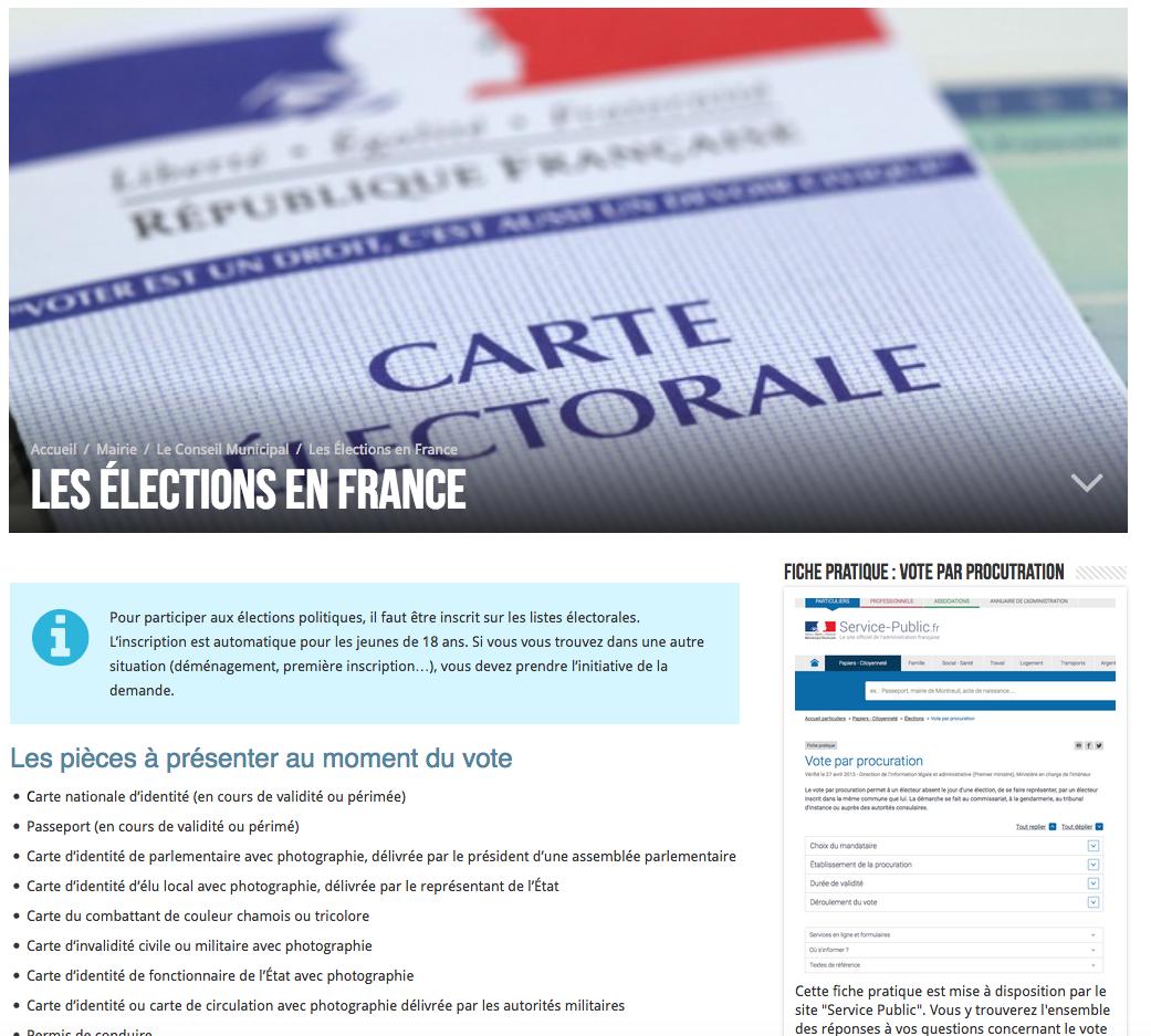 + d'infos sur l'inscription sur les listes électorales