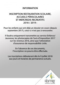 Informations 2018/2019