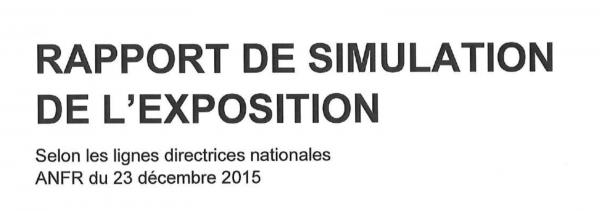 Rapport de simulation de l'exposition