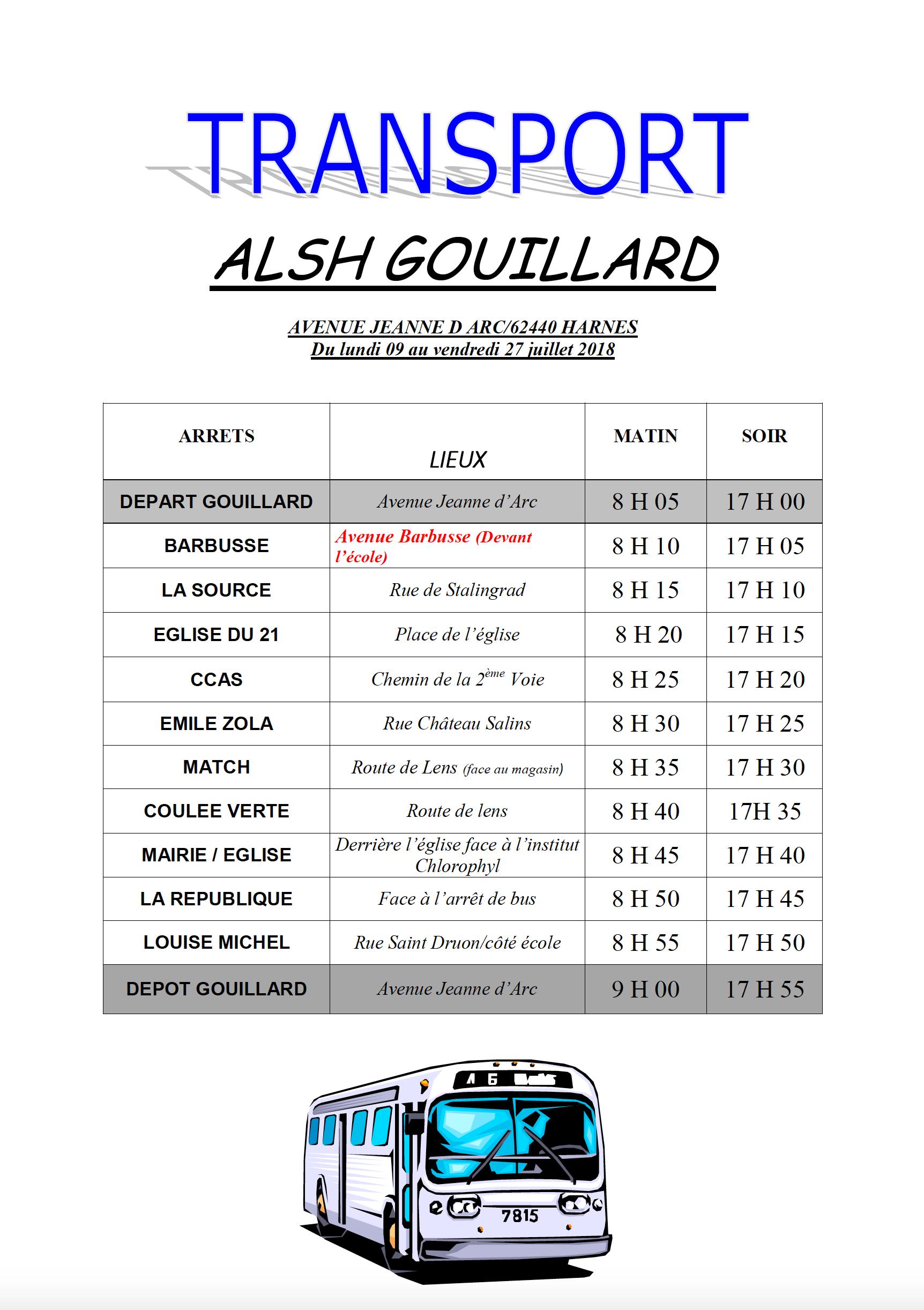 Transport Bus ALSH Gouillard