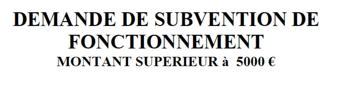 Dossier de subvention