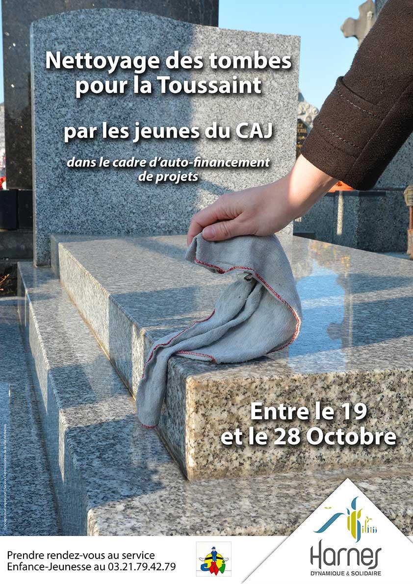 Nettoyage des tombes par le CAJ